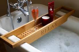 wooden bath rack