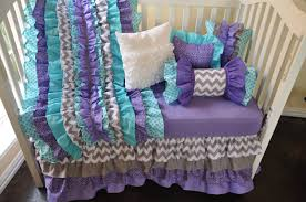 chevron baby girl bedding purple