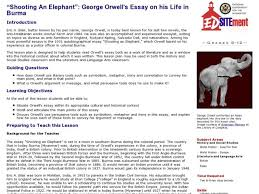 shooting an elephant essay write a detailed essay on national essay and letter writing by lg alexander