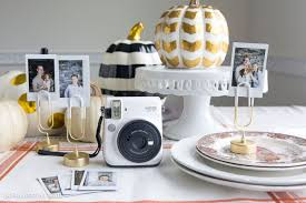 cute idea for thanksgiving place cards diy photo place cards using instax photos