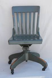 antique wooden office chair. antique oak office chair early 1900s vintage desk w old industrial grey paint wooden v