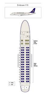 United Airlines Embraer Jet Seating Chart