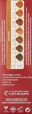 Surya Brasil Color Chart Surya Brasil Henna Powder Brown