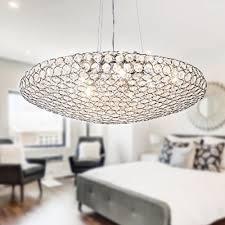 modern oval crystal chandelier pendant ceiling light