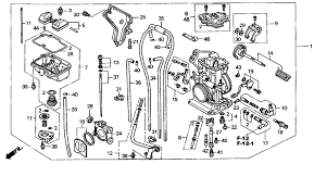 2006 Crf450r Jetting Chart 2005 Honda Crf450r Carburetor Parts Oem Diagram