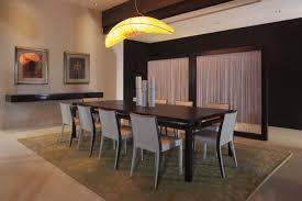 Dining Room Lighting Concept Ideas Over High Gloss Furnished - Unique dining room light fixtures