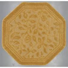 mohawk home wellington 6 octagon bath rug in gold