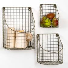 wire wall baskets set of three plantiful home wall hanging baskets for bathroom storage using baskets for wall storage
