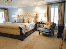 Upholstered Sleigh Bed For Classic Master Bedroom Interior (Image 28 of 28)