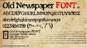 Newspaper Fonts Old Newspaper Font Dafont Com