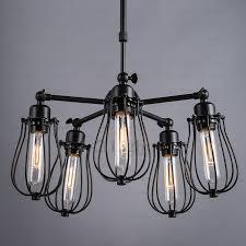 primitive 5 light fan shaped light fixtures