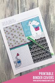 Printable Coloring Page Binder Covers Inspiration Made Simple