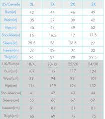 Size Chart Konfidentboutique