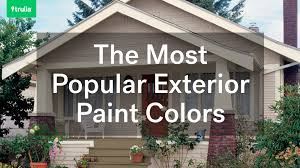 most popular exterior paint colors