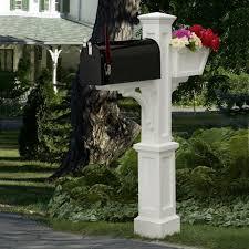 double mailbox post plans. Westbrook Plus Plastic Mailbox Post, White Double Post Plans