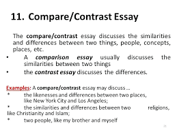 example of a compare contrast essay examples of comparison essays example comparison and contrast essays