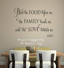 bless the food before us x faithvinyl lettering wall custom vinyl wall decals sayings for on custom wall art sayings with custom vinyl wall decals sayings for dining room fresh dining room