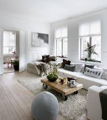 living room: Marvellous Wooden Flooring Under White Rug For Living Room  Interior Design With Long