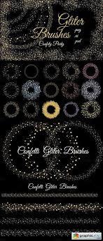 Confetti Brush Photoshop Glitter Confetti Brushes Free Download Vector Stock Image