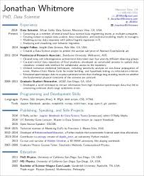 Modern Resume Examples Enchanting Download Data Scientist Resume Sample DiplomaticRegatta