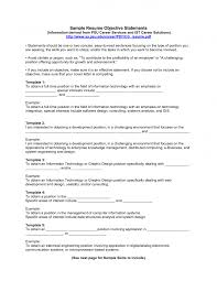 Objectives In Resumes Examples Of Objectives On A Resume Example