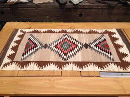 hand woven wool rug vintage wool textile art native american image 0