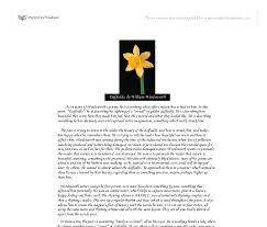 daffodils by william wordsworth gcse english marked by  document image preview
