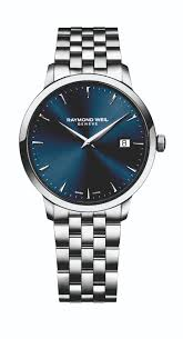 raymond weil toccata men s blue dial stainless steel bracelet watch raymond weil toccata men s blue dial stainless steel bracelet watch full size image