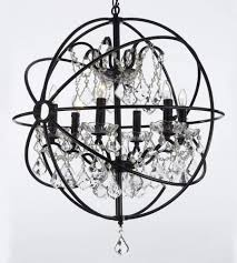 furniture outstanding black wrought iron chandelier with crystals 5 81 9luislsl sl1500 black wrought iron chandelier