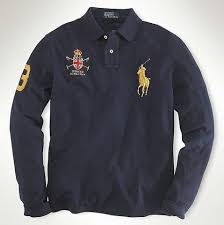 men s classic fit big pony rugby in dark darkblue ralph lauren on