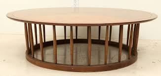 john van koert round spindle coffee table for drexel in excellent condition for in los
