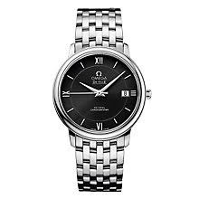 omega watches quality swiss watches ernest jones watches omega de ville prestige co axial men s bracelet watch product number 9561412