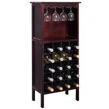Wine Racks For Cabinets Burgundy Wooden Wine Cabinet Bottle Rack For 20 Bottles Wine