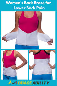 Women\u0027s Back Brace for Female Lower Pain-- This lumbar back brace support helps treat many different causes of pain. Some may include herniated