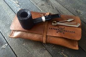 view larger leather pipe