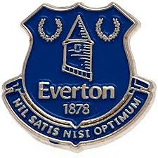 The everton fc font is used for jersey lettering, player names, numbers, team logo, branding, and merchandise. Everton Football Club Pin Badge Amazon Co Uk Sports Outdoors