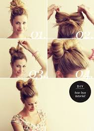 Diy Bow Bun By Running On Happiness účesy účesy Vlasy A Krása