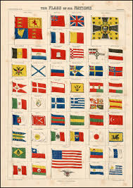 Flag Chart With Names 1873 The Flags Of All Nations Mjustas Livejournal
