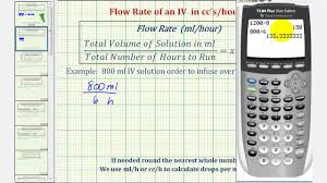 Drops Per Minute Chart Ex Iv Calculation Flow Rate In Milliliters Per Hour