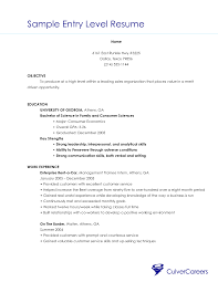 Brilliant Ideas Of Sample Entry Level Customer Service Resume With