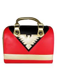 loungefly x men red phoenix faux leather handbag