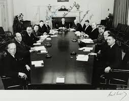 political items a large photograph of john f kennedy and his original cabinet signed by cabinet members including robert mcnamara fourth from left for 7 500 at a