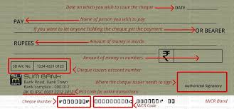 How To Write A Cheque In India Stepupmoney