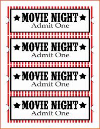 Free Movie Night Flyer Templates Free Printable Movie Ticket Templates Review Template Poster