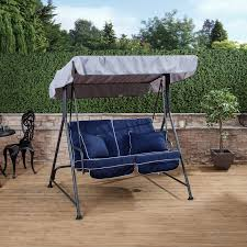 mosca 2 seater garden swing seat charcoal frame