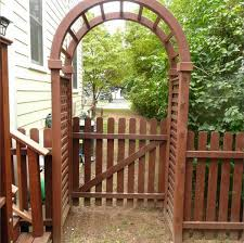 Small Picture Beautiful Design of Vinyl Arbor with Gate Vinyl Arbor Gate And