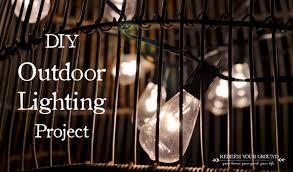 diy outdoor lighting project redeem your ground rygblogcom cheap diy lighting