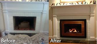 convert gas fireplace to wood burning wood stove insert installation