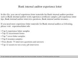 bankinternalauditorexperienceletter 140901093839 phpapp01 thumbnail 4jpgcb1409564343 internal audit cover letter