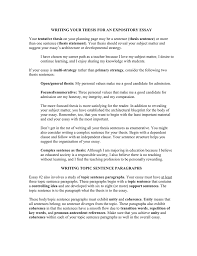 Thesis Sentence And Paragraphs Doc